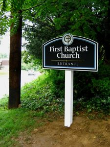 Small church sign