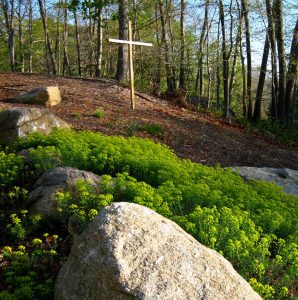 Cross hill at church