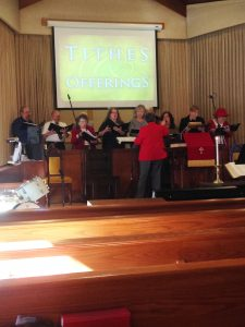 Our choir practices and performs under the energetic leadership of an experienced choir director.