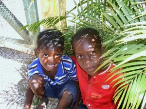 "Children in a ""batey"" (village)"